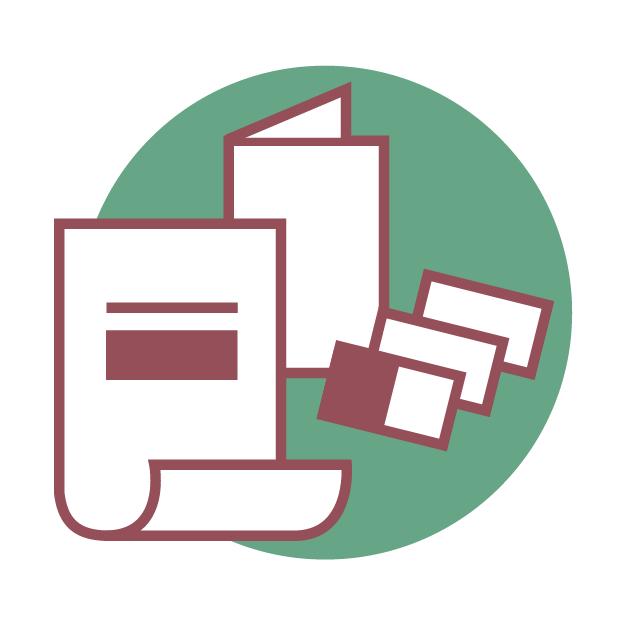Faltkarten, Pocket-Medien und Flyer