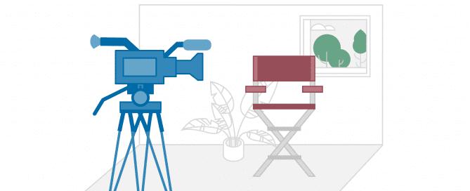 Schematische Darstellung einer Videoaufnahme, die erfolgreicher und glaubwürdiger ist, wenn die Mitarbeiter beim Videodreh authentisch bleiben| HIRSCHTEC
