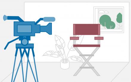 Schematische Darstellung einer Videoaufnahme, die erfolgreicher und glaubwürdiger ist, wenn die Mitarbeiter beim Videodreh authentisch bleiben  HIRSCHTEC