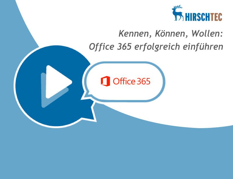 Ankündigungsbild zu Webinar zu Office 365