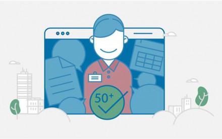 Schematische Darstellung der Mitarbeitergeneration 50 Plus im Kontext einer digitalen Arbeitswelt | HIRSCHTEC