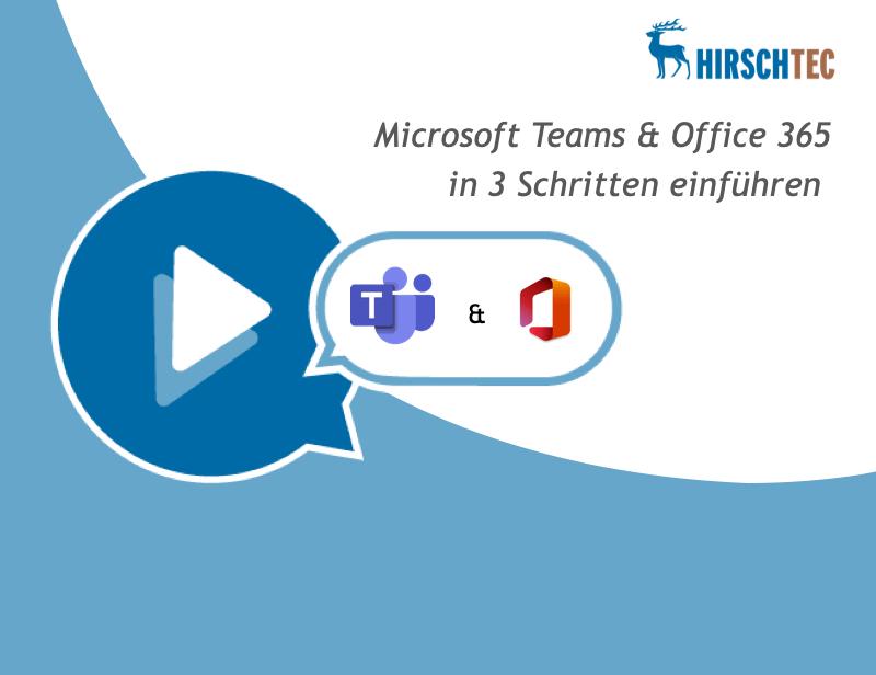 Ankündigung Webinar Teams-Office 365 | HIRSCHTEC
