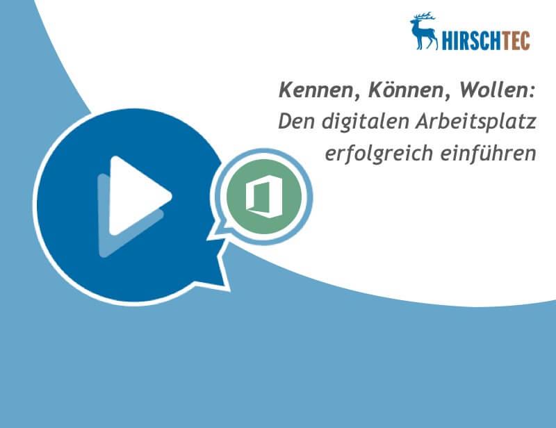 Ankündigung Webinar Digitaler Arbeitsplatz einführen | HIRSCHTEC