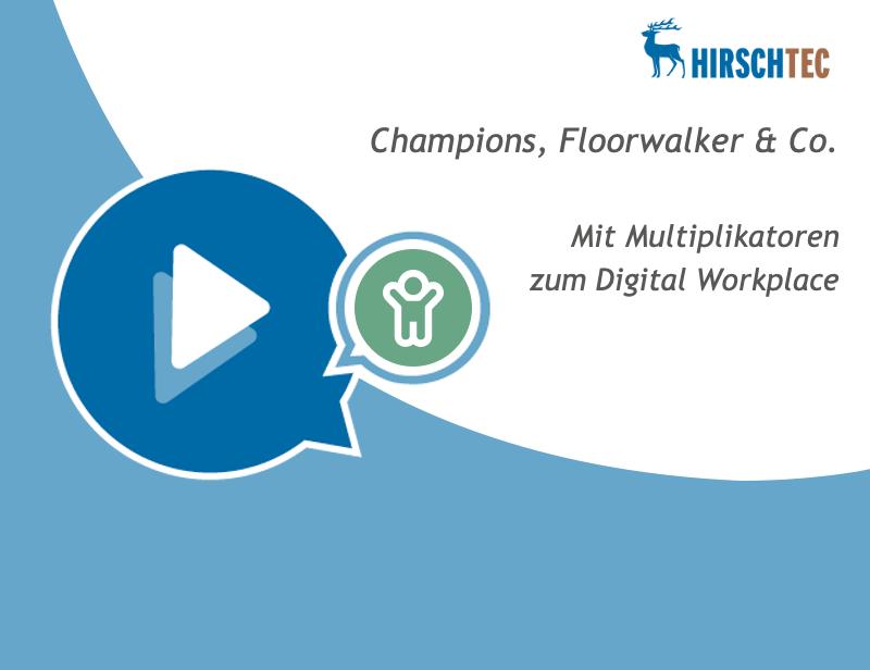 Ankündigung Floorwalker-Multiplikatoren-Webinar | HIRSCHTEC
