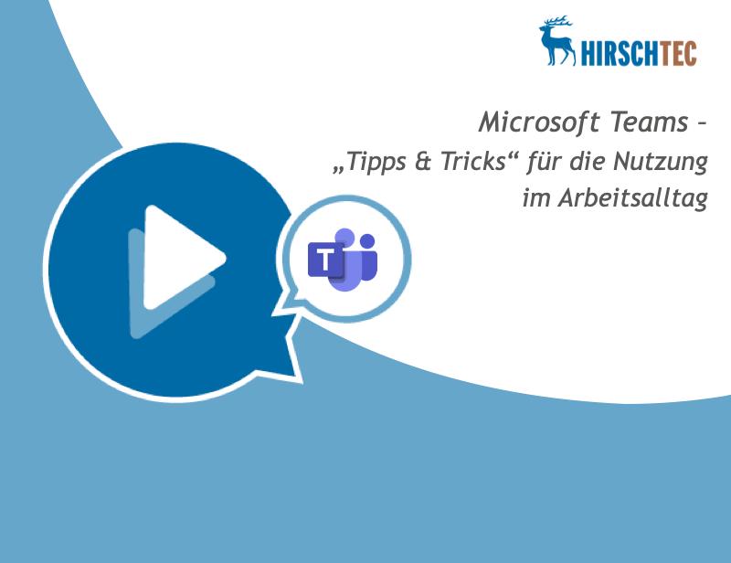 Ankündigung Microsoft Teams Webinar Tipps | HIRSCHTEC