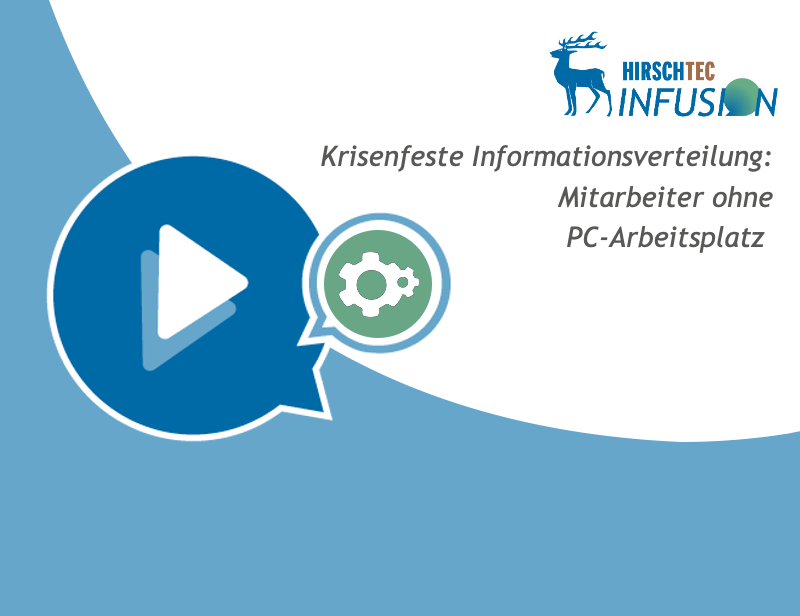Ankündigung Webinar Informationsverteilung | HIRSCHTEC