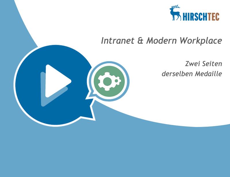 Ankündigung-Intranet-Modern-Workplace-Webinar | HIRSCHTEC