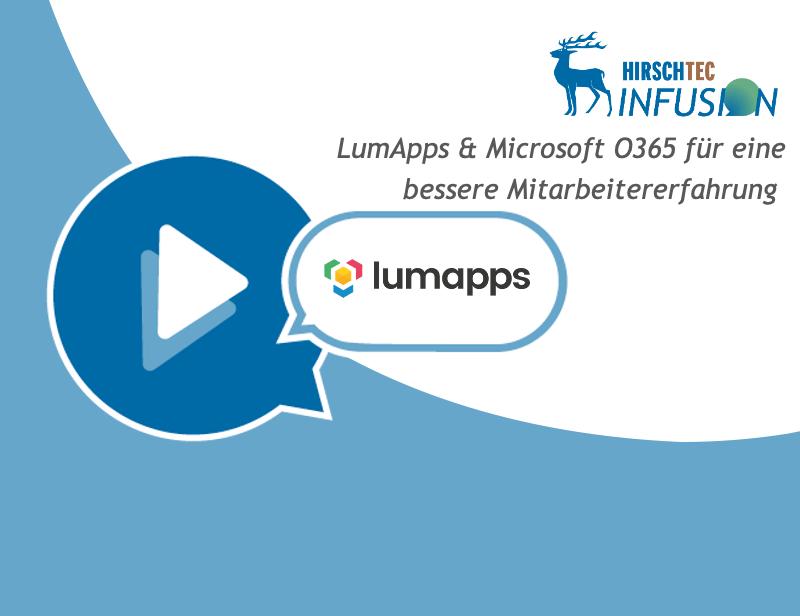 Ankündigung LumApps Webinar | HIRSCHTEC
