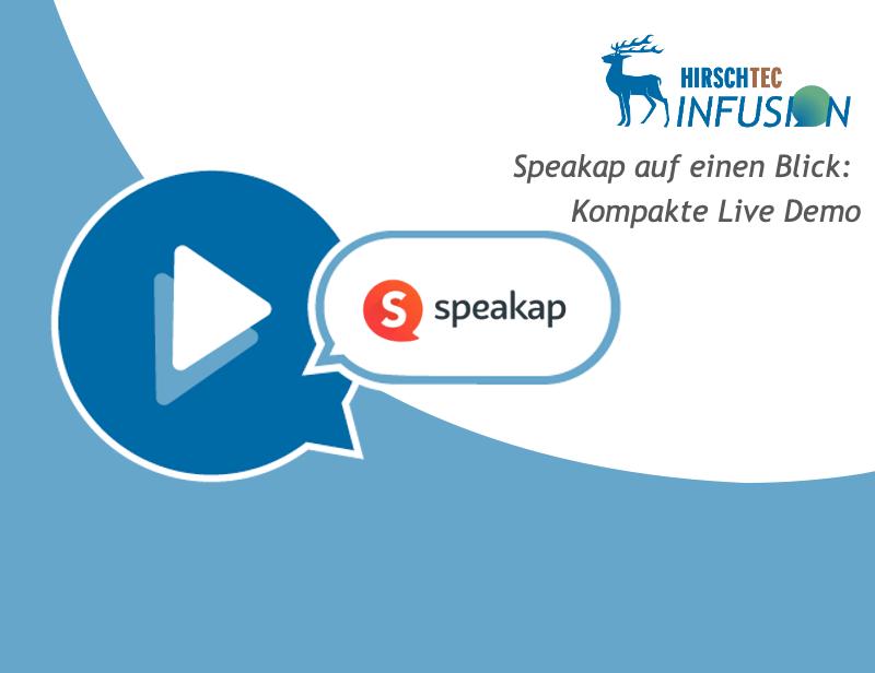 Ankündigung Speakap-Webinar | HIRSCHTEC