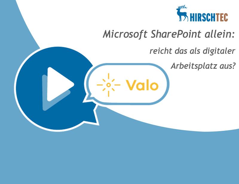 Webinarankündigung-SharePoint-Valo | HIRSCHTEC