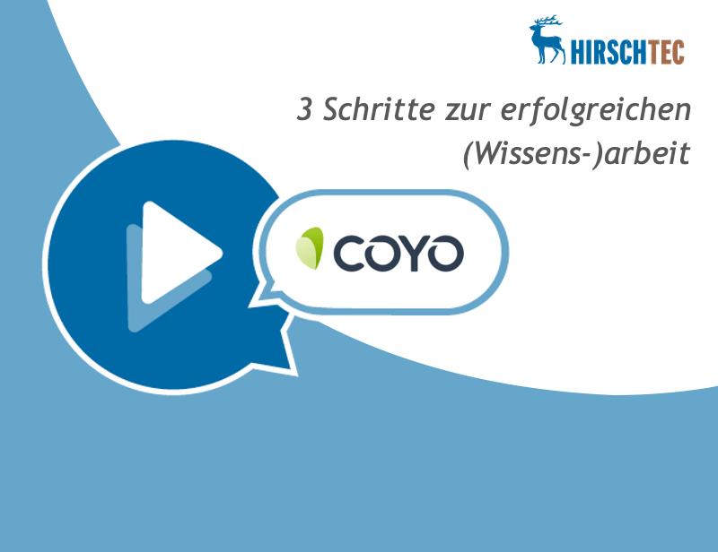 Ankündigung Webinar COYO-Wissensarbeit | HIRSCHTEC