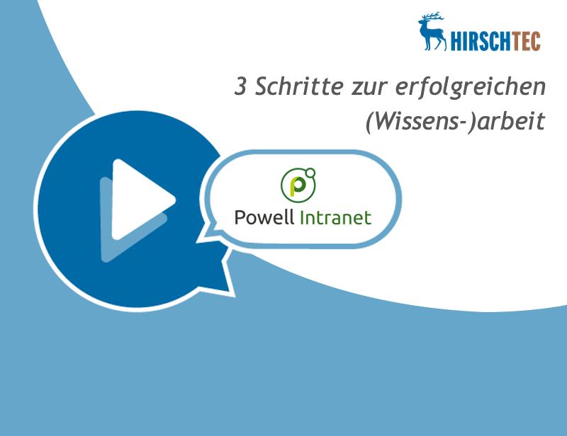 Ankündigung Wissensarbeit-Powell | HIRSCHTEC