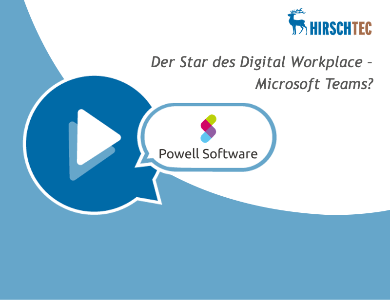 Ankündigungsbild Webinar zu Powell Teams | HIRSCHTEC