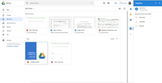 Google Workspace - Schneller Zugriff auf Google Drive (© Google)