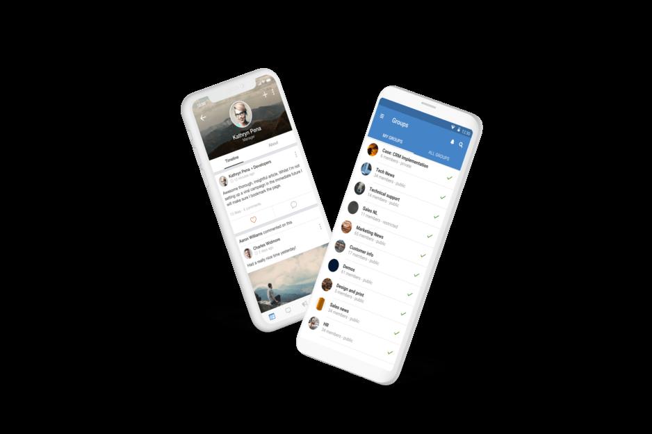 Speakap - Mobile Ansicht bei Android und iOS-Geräten (©Speakap)