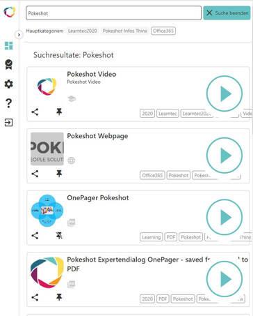 Pokeshot - SmartKnowledge Hub mobile Ansicht der Suchergebnisse (© Pokeshot)