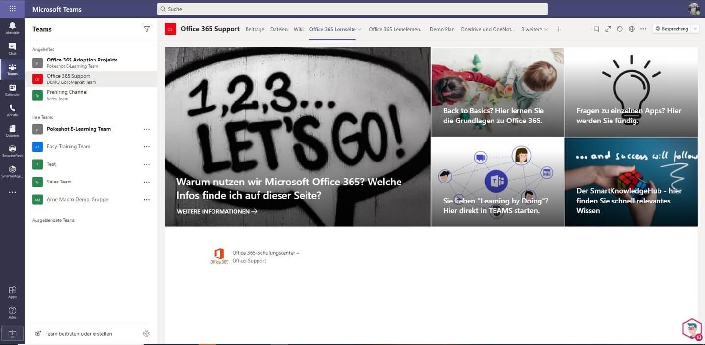 Pokeshot - SmarterPath Lernseite Microsoft Teams (© Pokeshot)
