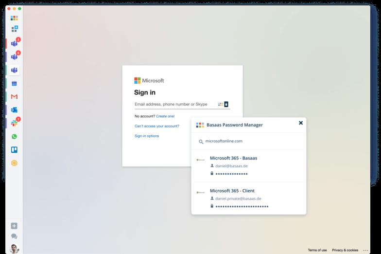 Basaas - Schnellerer Login durch den integrierten Passwort-Manager (© Basaas)