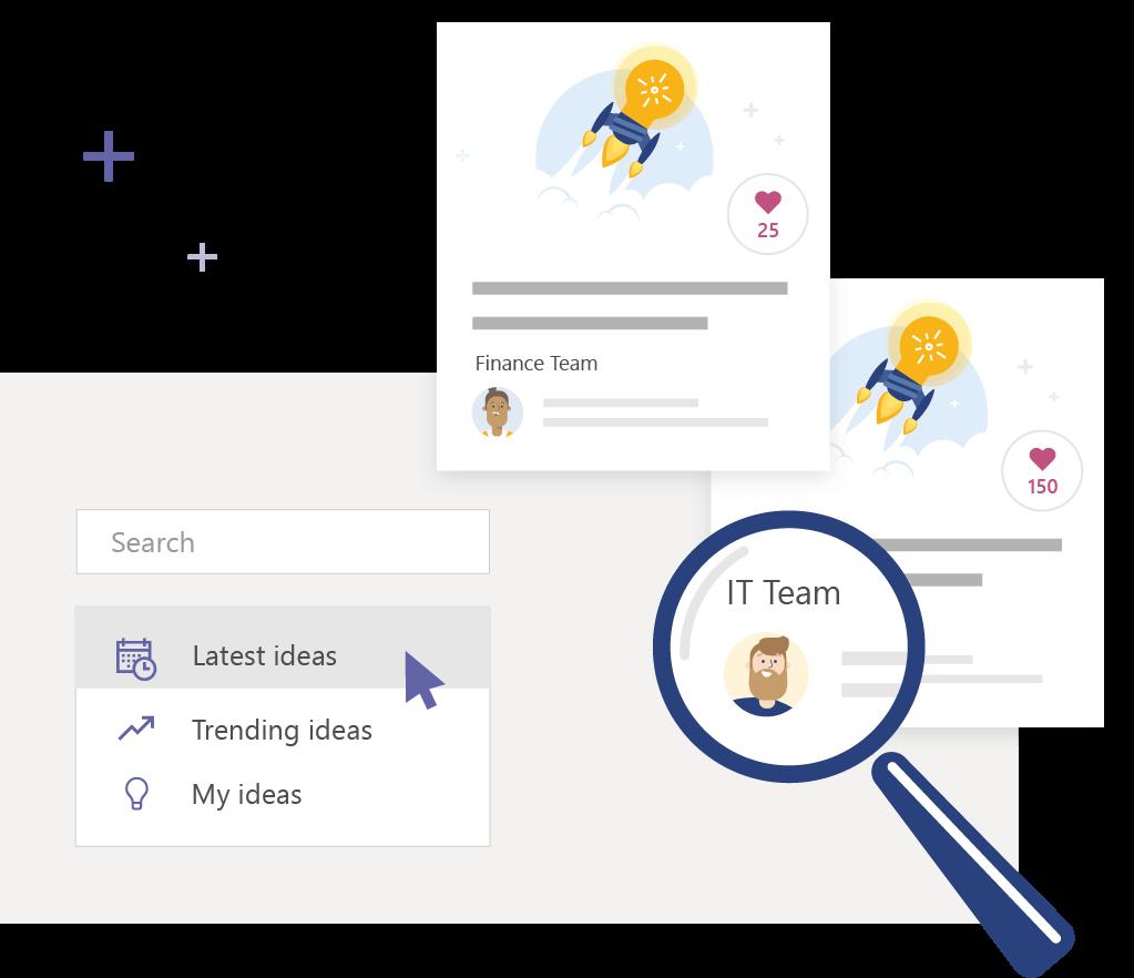 Valo Intranet - Such- und Filter-Funktionen (© Valo)