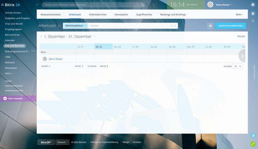Bitrix24 - Intranet HR-Management-Tool (© HIRSCHTEC MCA)