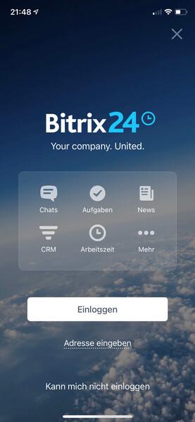 Bitrix24 - mobile Ansicht der Intranet-App (© HIRSCHTEC MCA)