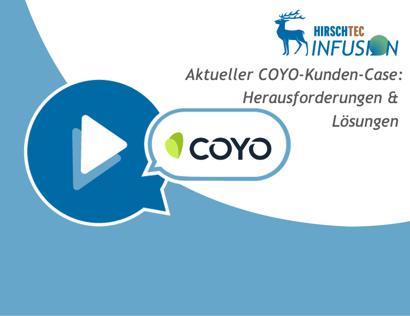 Webinar-Ankündigung COYO-Infusion-Kundencase | HIRSCHTEC