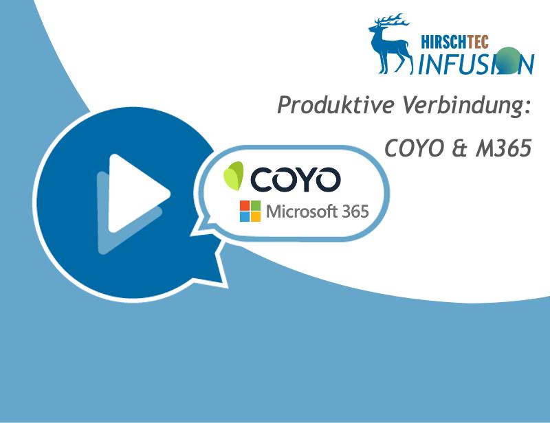 Webinar-Ankündigung COYO-Infusion M365 | HIRSCHTEC