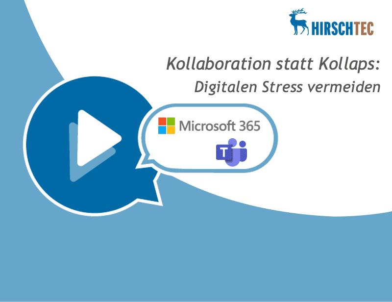 Ankündigung Webinar Digitaler Stress | HIRSCHTEC