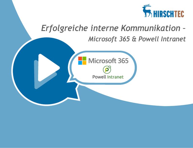 Ankündigung Webinar zu Powell Intranet - Microsoft365 | HIRSCHTEC