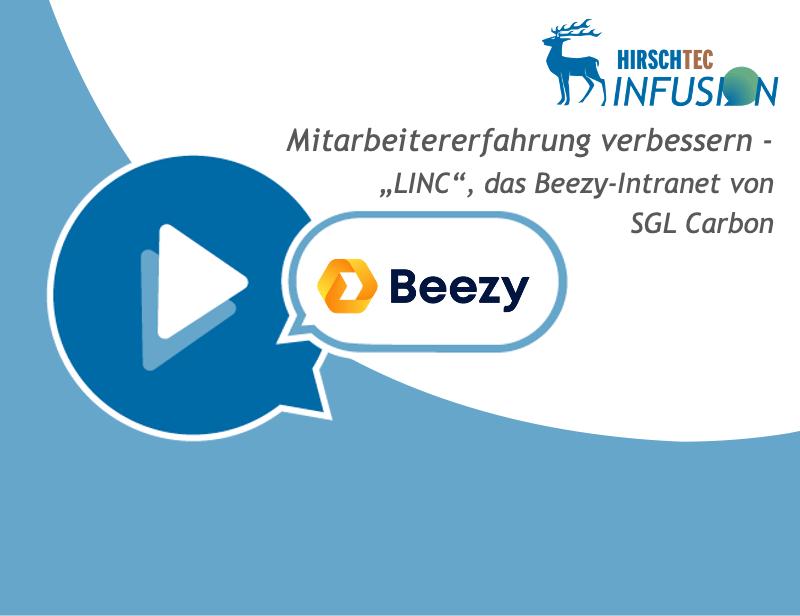Webinarankündigung zu Kundencase Beezy-Intranet | HIRSCHTEC