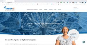 Bild zeigt den Moderatormodus in Microsoft Teams mit Inhalt im Hintergrund und der Moderatorin im Vordergrund