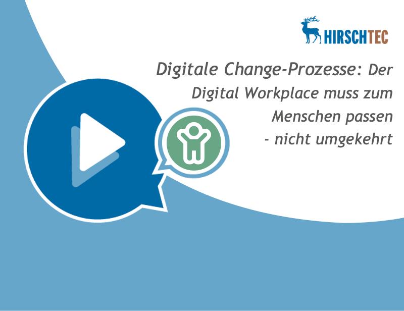 Ankündigung Webinar zu Digitale Change-Prozesse | HIRSCHTEC