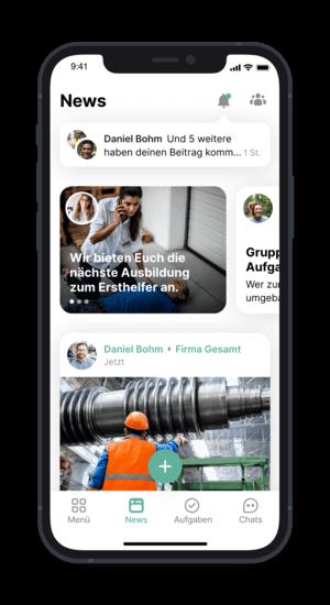 Flip App - Newsansicht (@ Flip App)