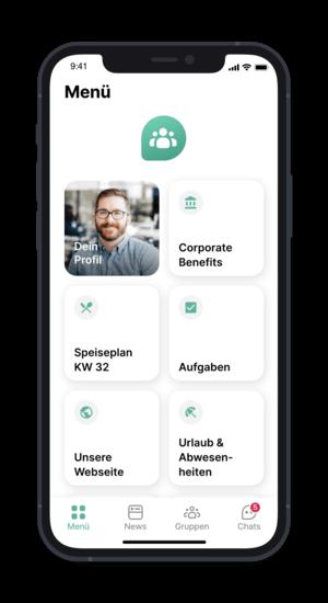 Flip App - Ansicht der Startseite (@ Flip App)