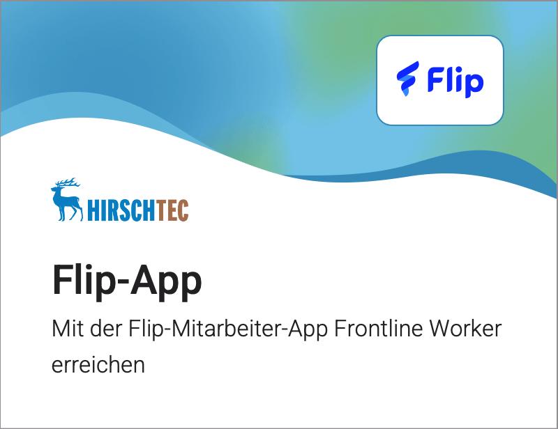 Flip-App Ankündigung | HIRSCHTEC