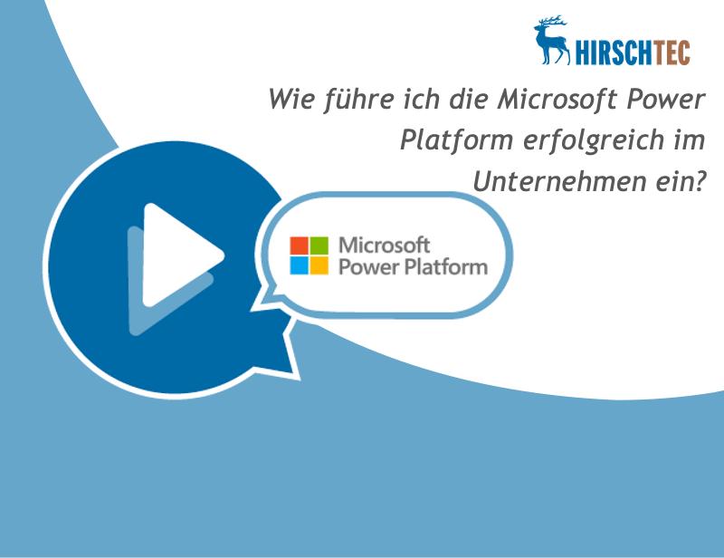 Ankuendigung Microsoft-Platform-Webinar | HIRSCHTEC