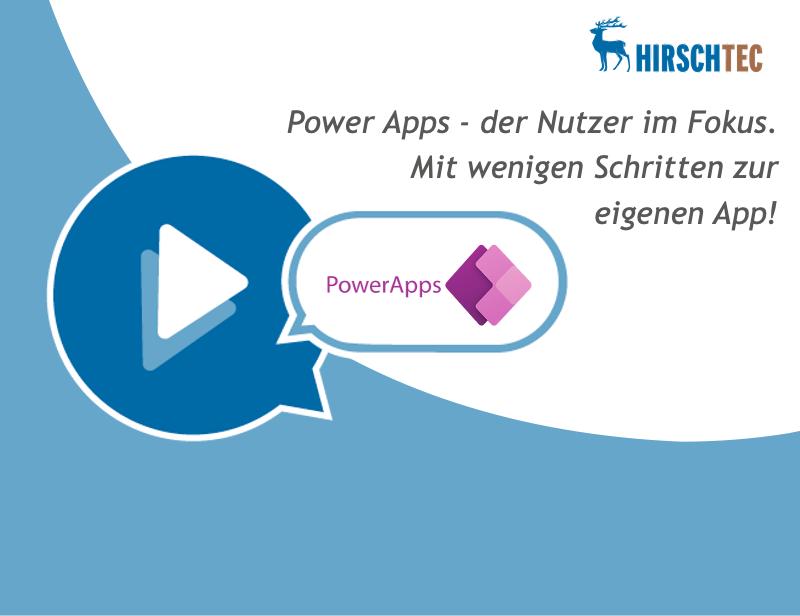 Ankuendigung Microsoft-Power-Apps-Webinar | HIRSCHTEC